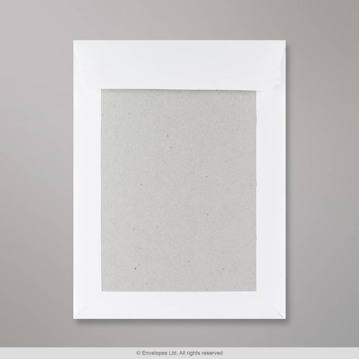 241x178 mm Busta con dorso rigido bianca
