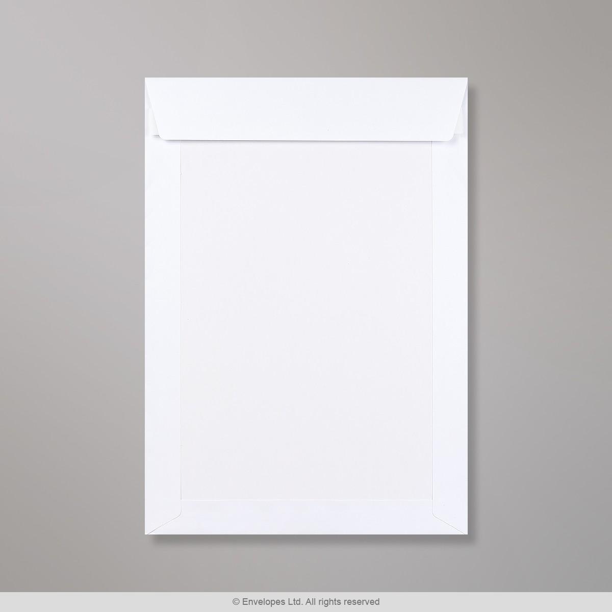 312x220 mm Busta con dorso rigido bianca