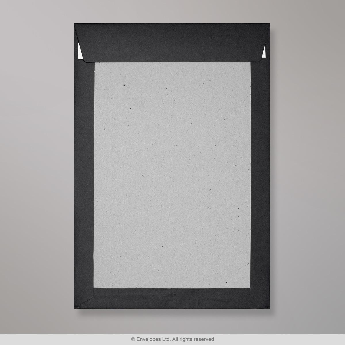 324x229 mm (C4) Busta con dorso rigido nera