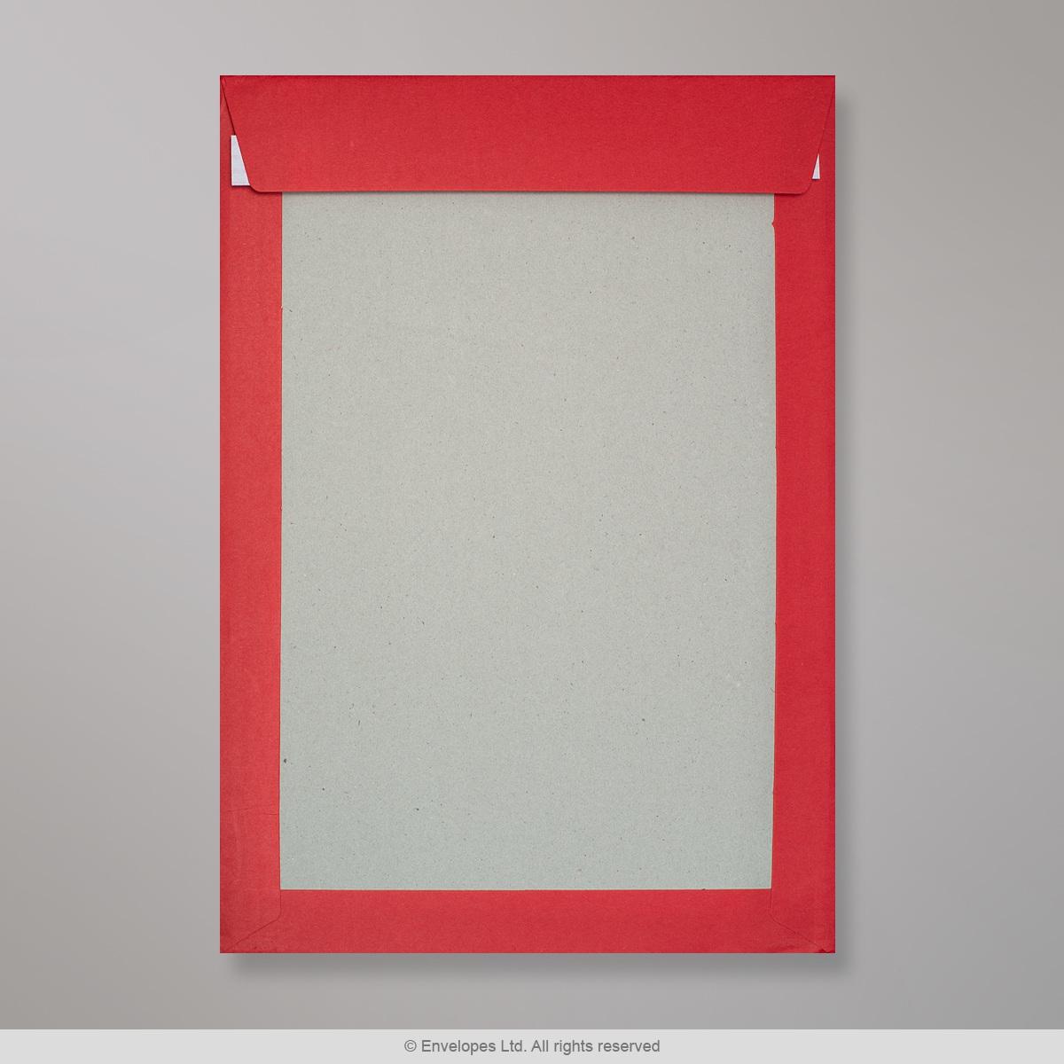 324x229 mm (C4) Busta con dorso rigido rosso scuro