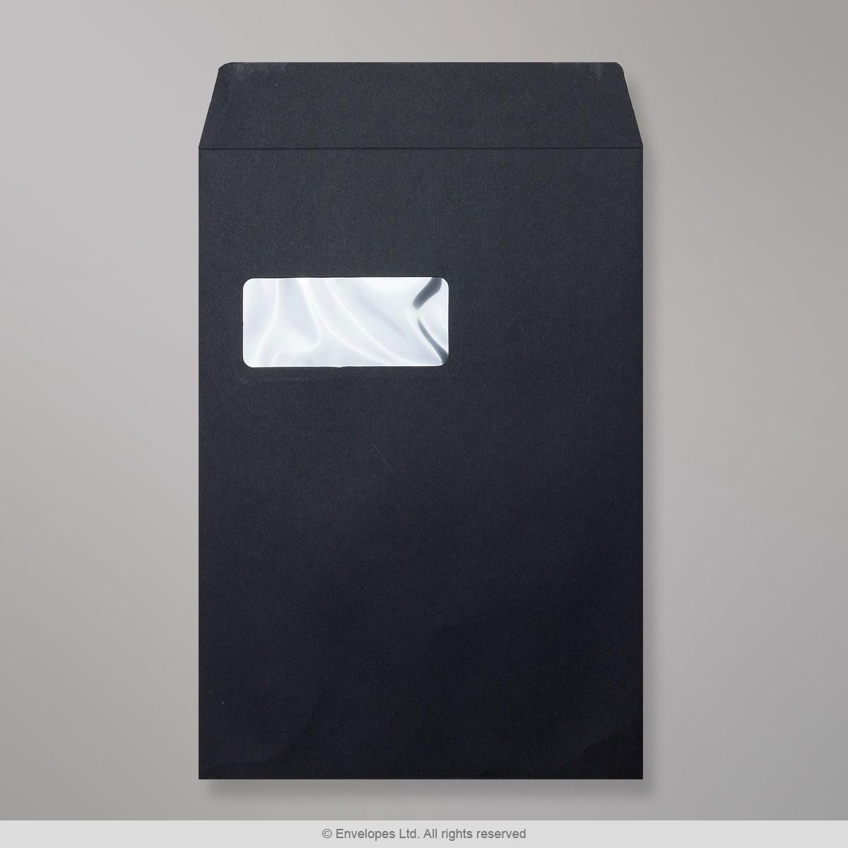 324x229 mm (C4) Busta Post Marque nera - con finestra