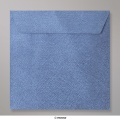 130x130 mm envelope com textura - azul real