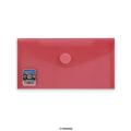 Envelopes V-Lock DL+ Red 225x125 mm Velcro Closure