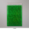 324x230 mm Holographic Green Metallic Bubble Bag