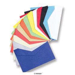 62x94 mm Gekleurde enveloppen met puntige klep