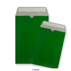Groene kartonnen enveloppen
