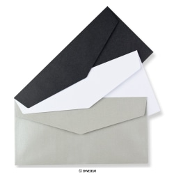 110x220 mm (DL) Envelopes de cor com aba em pico