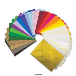 Coloured Greetings Envelopes