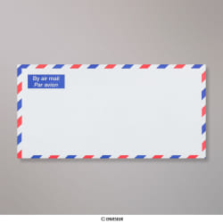 110x220 mm (DL) envelope Branco AIRMAIL