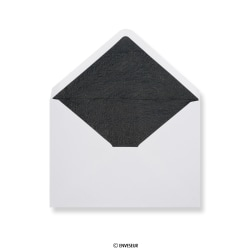 Envelopes forrados com papel preto fancy