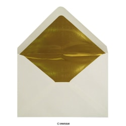 Goudkleurig folie aan binnenzijde