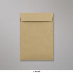 162x114 mm (C6) Braun Briefumschlag, Manila, Nassklebend