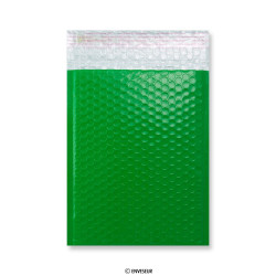 Green Poly Gloss Bubble Bags