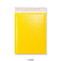 Yellow Poly Gloss Bubble Bags