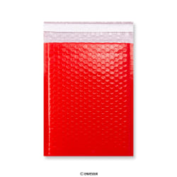 Red Poly Gloss Bubble Bags