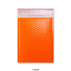 Orange Poly Gloss Bubble Bags