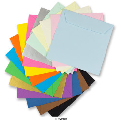 80 x 80 mm Envelopes de cor