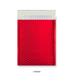 Rode mat metallic luchtkussenenvelop