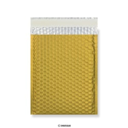 Goudkleurige mat metallic luchtkussenenvelop