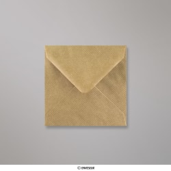 116x116 mm Bruin Geribbelde Envelop