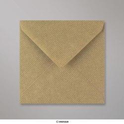 130x130 mm Brown Ribbed Envelope