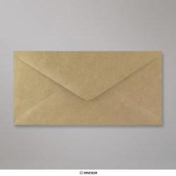 110x220 mm (DL) Enveloppe Striée, Marron, Gommée