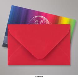 62x94 mm envelope vermelho vinho