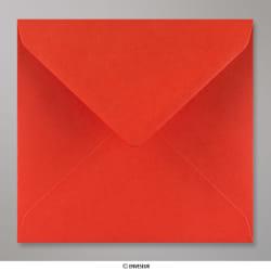 155x155 mm Enveloppe Rouge Coquelicot, Rouge Coquelicot, Gommée