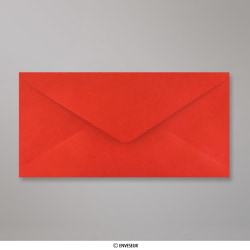 110x220 mm (DL) Busta Rosso Papavero, Rosso Papavero, Gommata
