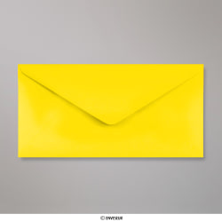 110x220 mm (DL) Gelb Briefumschlag, Gelb, Nassklebend