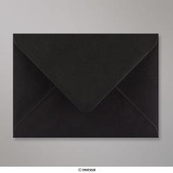 125x175 mm Enveloppe Noire, Noir, Gommée