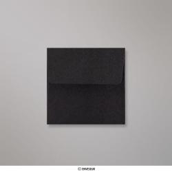 80x80 mm Enveloppe Noire, Noir, Auto-adhésive avec Bande Détachable