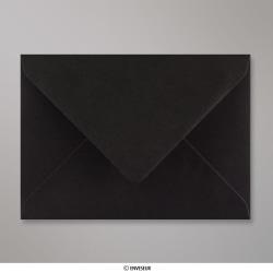 114x162 mm (C6) Enveloppe Noire, Noire, Gommée