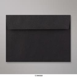 114x162 mm (C6) Enveloppe Noire, Noir, Auto-adhésive avec Bande Détachable