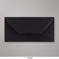 110x220 mm (DL) Schwarz Briefumschlag, Schwarz, Nassklebend