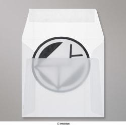 125x125 mm Enveloppe Transparente Blanche, Blanc, Auto-adhésive avec Bande Détachable