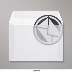 114x162 mm (C6) Wit Doorzichtige Envelop