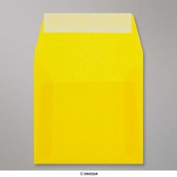 Sobre Translúcido Amarillo de 125x125 mm, Amarillo, Autoadhesivo