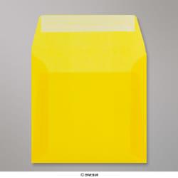 160x160 mm Busta Gialla Traslucida, Giallo, Con strip adesivo