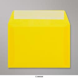 114x162 mm (C6) envelope amarelo translucido