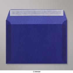 162x229 mm (C5) Enveloppe Transparente Bleue Foncée, Bleue Foncée, Auto-adhésive avec Bande Détachable