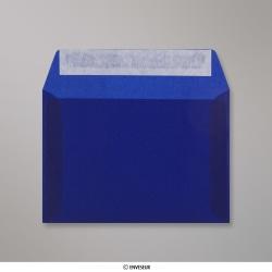 114x162 mm (C6) Dunkelblau Transparent Briefumschlag, Dunkelblau, Haftklebend