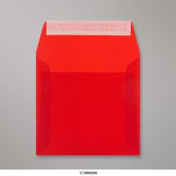 Sobre Translúcido Rojo de 160x160 mm, Rojo, Autoadhesivo