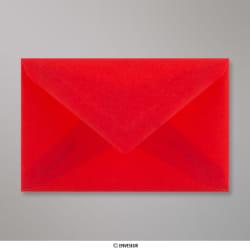 62x98 mm Enveloppe Transparente Rouge, Rouge, Gommée