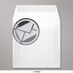 160x160 mm Enveloppe Transparente, Transparent, Auto-adhésive avec Bande Détachable