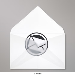 62x98 mm Enveloppe Transparente, Transparent, Gommée
