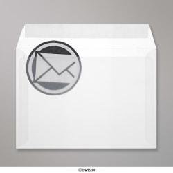 162x229 mm (C5) envelope branco translucido