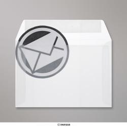 114x162 mm (C6) Enveloppe Transparente, Transparent, Auto-adhésive avec Bande Détachable