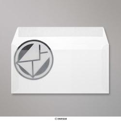 110x220 mm (DL) Klar Transparent Briefumschlag, Klar, Haftklebend - Verschluss