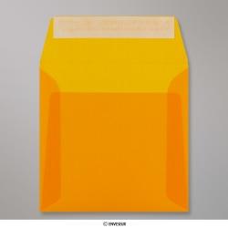 160x160 mm Busta Arancione Traslucida, Arancione, Con strip adesivo